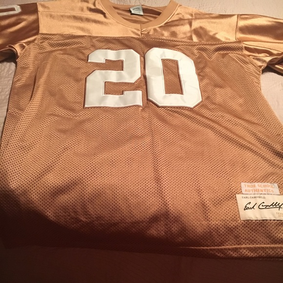 hot sale online 9cce8 14a35 Texas Longhorns#20 Earl Campbell Rust color Jersey